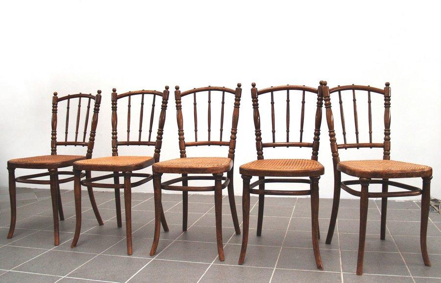 thonet stuhl set st hle 4 stk bugholz mit geflecht top ebay. Black Bedroom Furniture Sets. Home Design Ideas