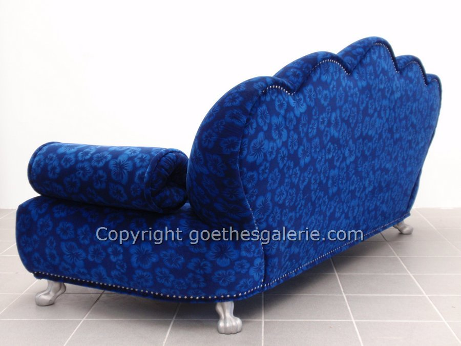 bretz sofa aladin neuwertiges traumst ck hibiskus blau. Black Bedroom Furniture Sets. Home Design Ideas