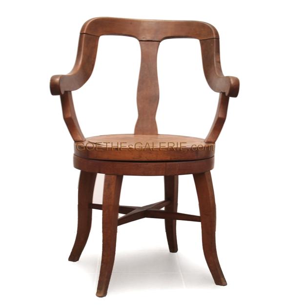 antiker drehstuhl b rostuhl jugendstil holz shabby chic stuhl sessel ebay. Black Bedroom Furniture Sets. Home Design Ideas