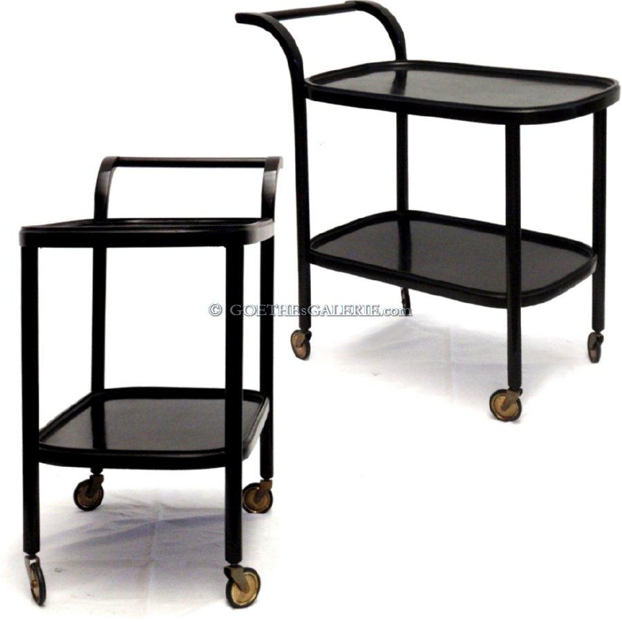 beistelltisch jugendstil schwarz servierwagen holz. Black Bedroom Furniture Sets. Home Design Ideas