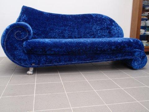 bretz sofa gaudi recamiere mit original bretz stoff blau. Black Bedroom Furniture Sets. Home Design Ideas