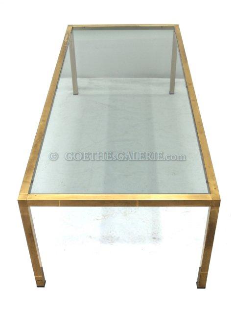 Couchtisch Messing Tisch Sofatisch Beistelltisch Wohnzimmertisch golden Glas  -> Couchtisch Glas Messing Italienisch