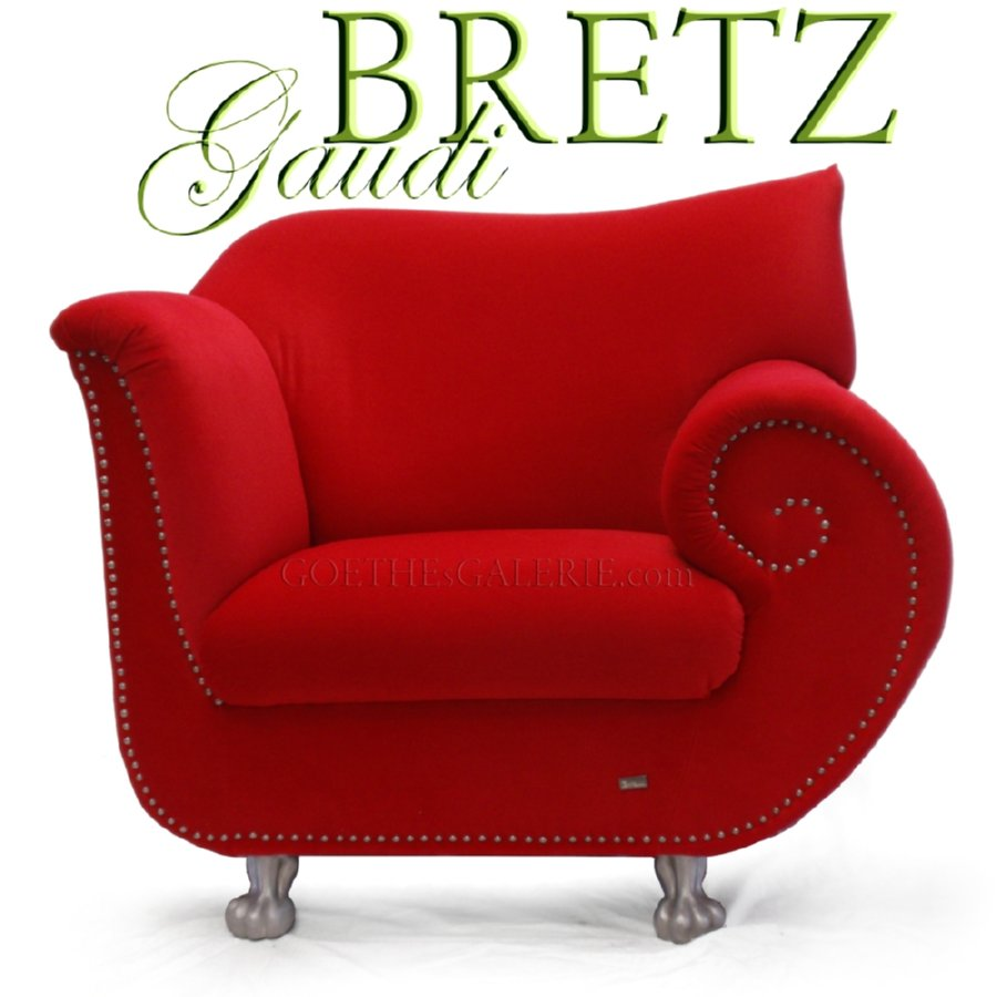 Bretz sessel gaudi rot original bretz mit original bretz for Roter sessel