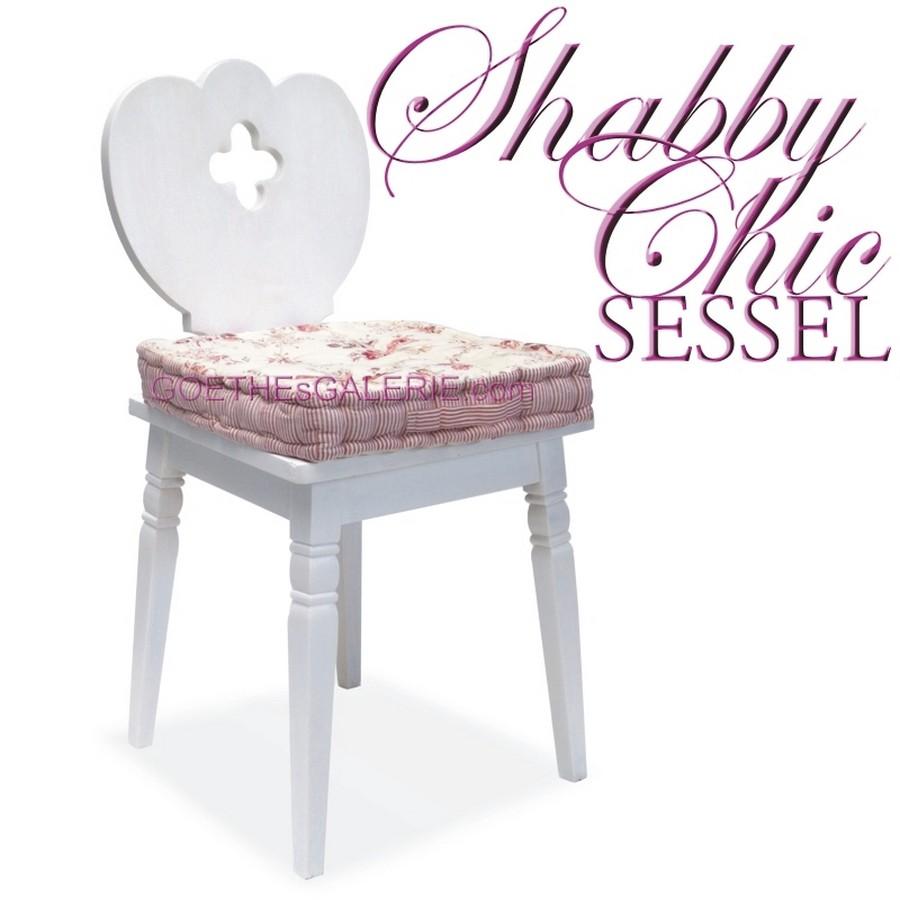 sessel wei shabby chic mit kleeblatt ausnehmung holz bauernsessel landhausm bel ebay. Black Bedroom Furniture Sets. Home Design Ideas