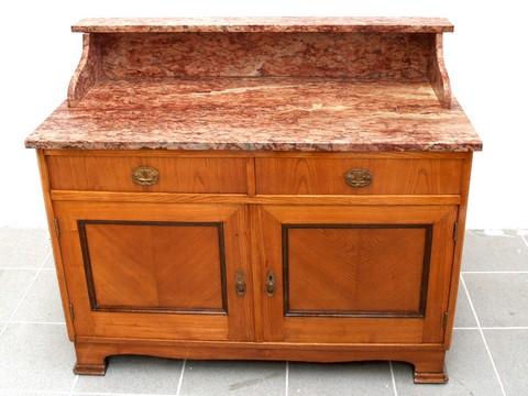 antike kommode restauriert mit rosa marmorplatte jugendstil waschtisch traumteil ebay. Black Bedroom Furniture Sets. Home Design Ideas