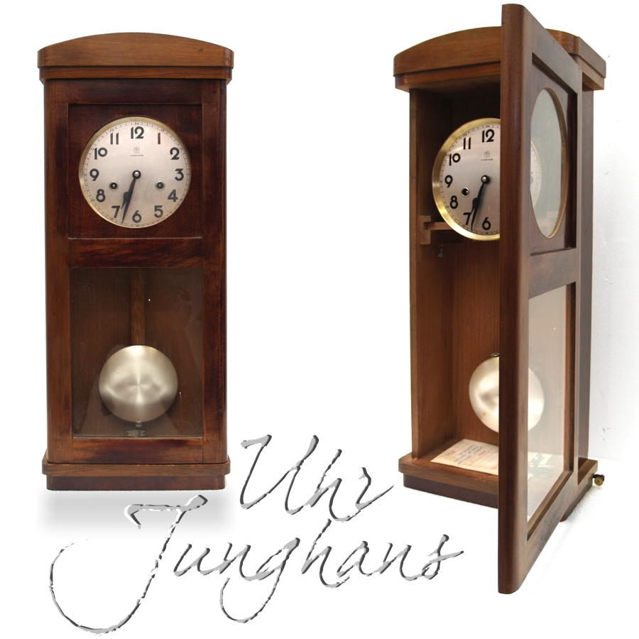 antike junghans wanduhr uhr holzgeh use jugendstil wundersch ne antiquit t ebay. Black Bedroom Furniture Sets. Home Design Ideas