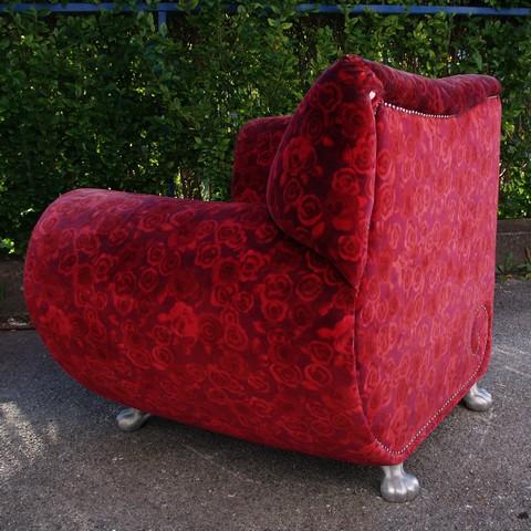 bretz stuhl rosenstoff gaudi original bretz stoff designerm bel sessel gebraucht ebay. Black Bedroom Furniture Sets. Home Design Ideas