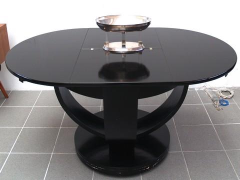 Esstisch rund ausziehbar schwarz  Esstisch Rund Glas Schwarz ~ CARPROLA for .