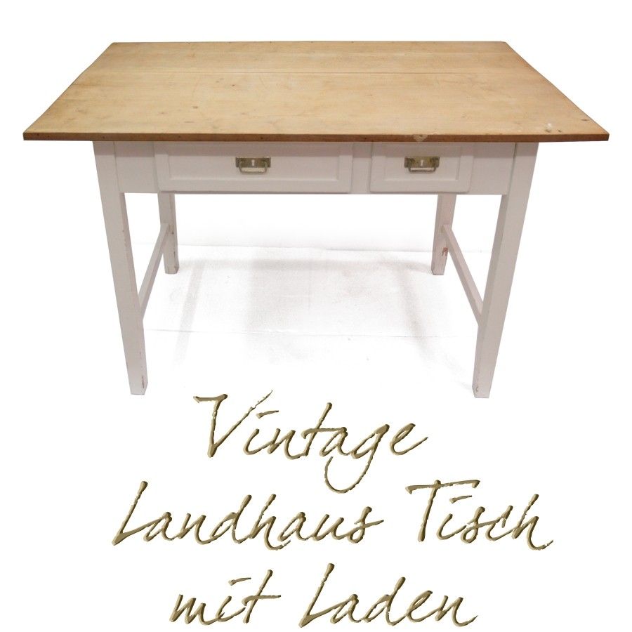 bezaubernder tisch creme vintage k chentisch shabby chic. Black Bedroom Furniture Sets. Home Design Ideas