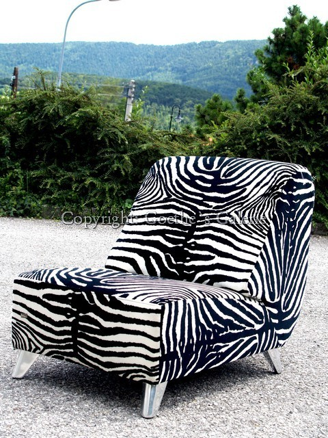 bretz chill sessel stuhl zebrastoff designklassiker lounge m bel extravagant ebay. Black Bedroom Furniture Sets. Home Design Ideas