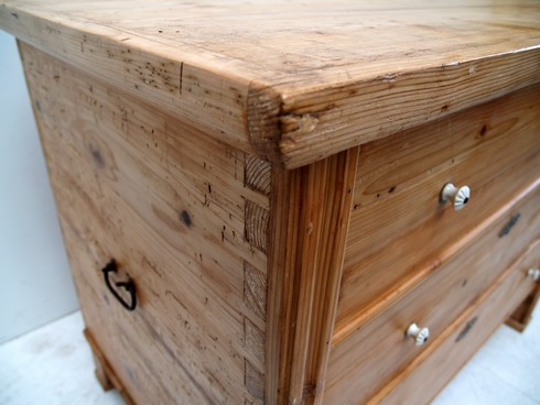 naturholz kommode shabby chic antike truhe wundersch ner k chenschrank traum ebay. Black Bedroom Furniture Sets. Home Design Ideas