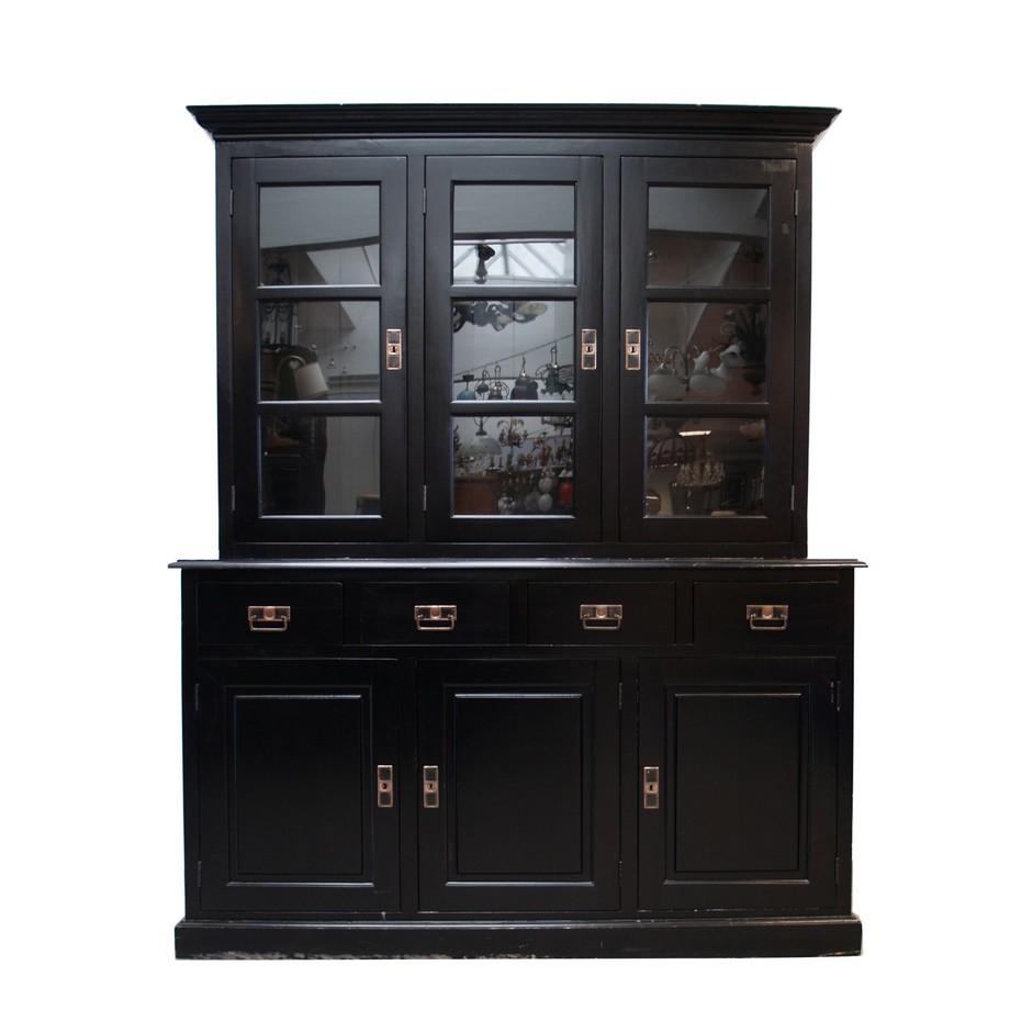 jugendstil stil vitrine noir gro er schrank b cherschrank. Black Bedroom Furniture Sets. Home Design Ideas