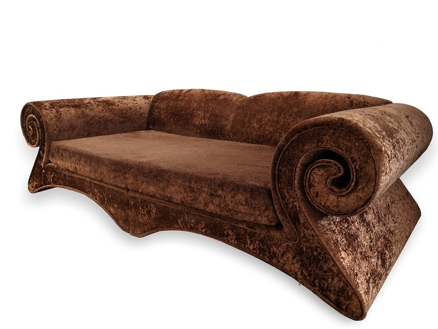 bretz mammut sofa design m bel goldbrauner riesensofa traumteil ebay. Black Bedroom Furniture Sets. Home Design Ideas