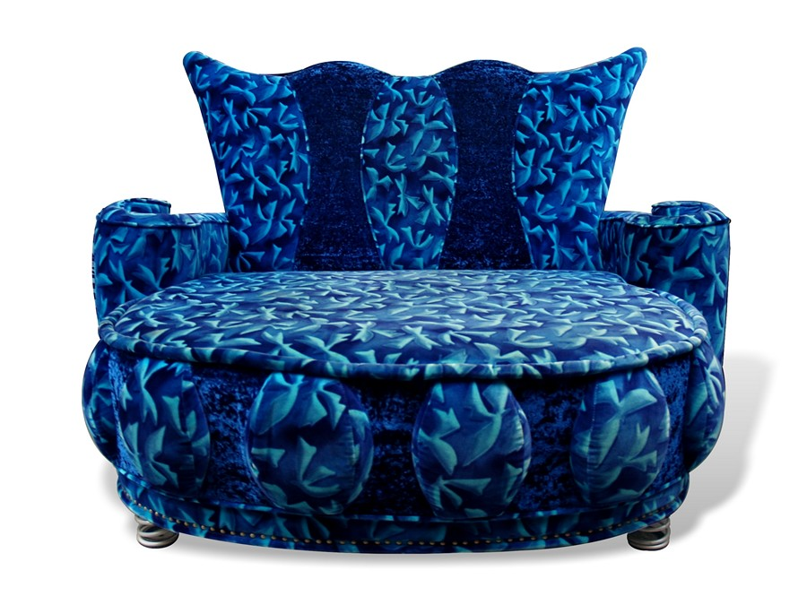 bretz sofa lucky loveseat designersofa blau glamoursamt. Black Bedroom Furniture Sets. Home Design Ideas