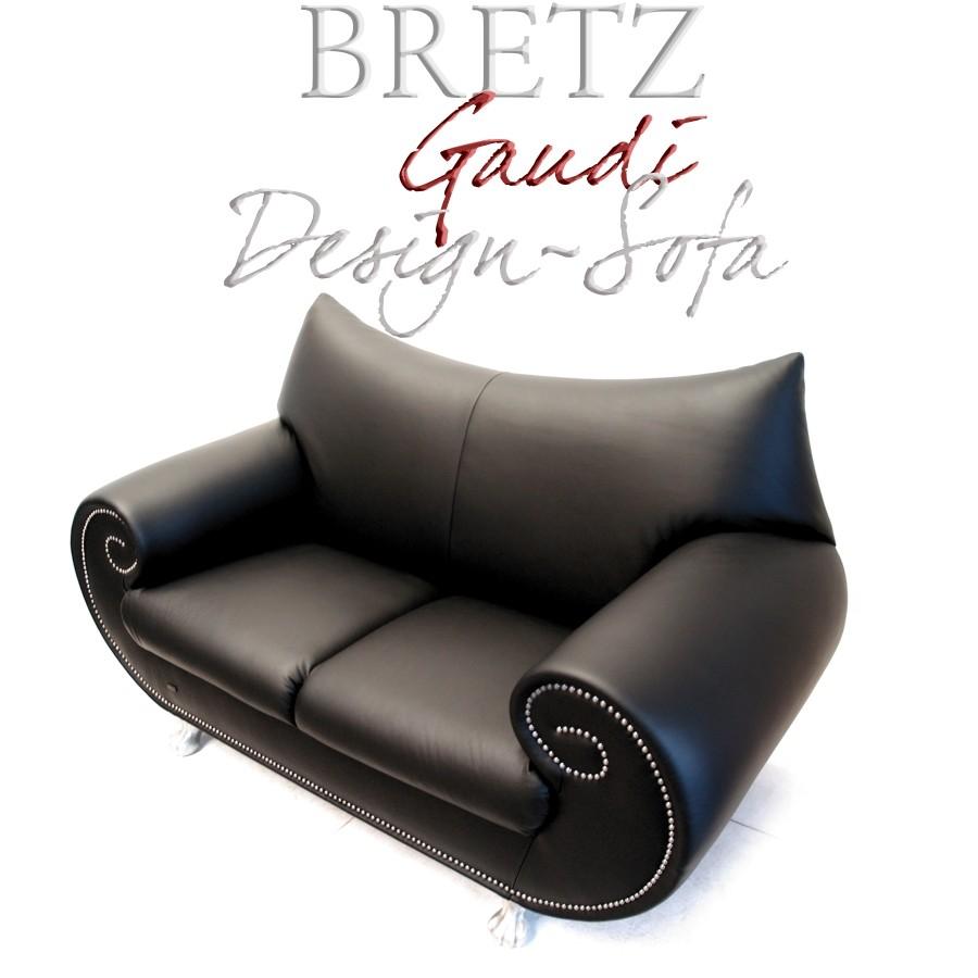 bretz gaudi ledersofa neuwertig 2 sitzer leder sofa traumst ck mega elegant. Black Bedroom Furniture Sets. Home Design Ideas