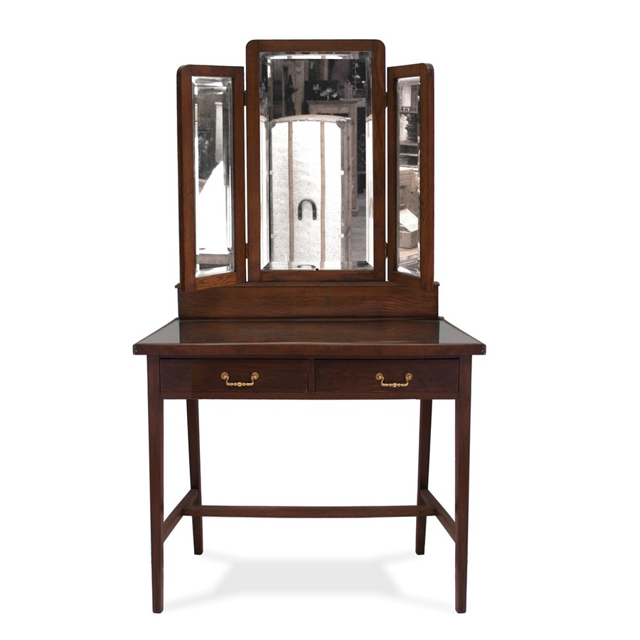 antiker tisch jugendstil schminktisch mit spiegel aufsatz klappspiegel elegant ebay. Black Bedroom Furniture Sets. Home Design Ideas