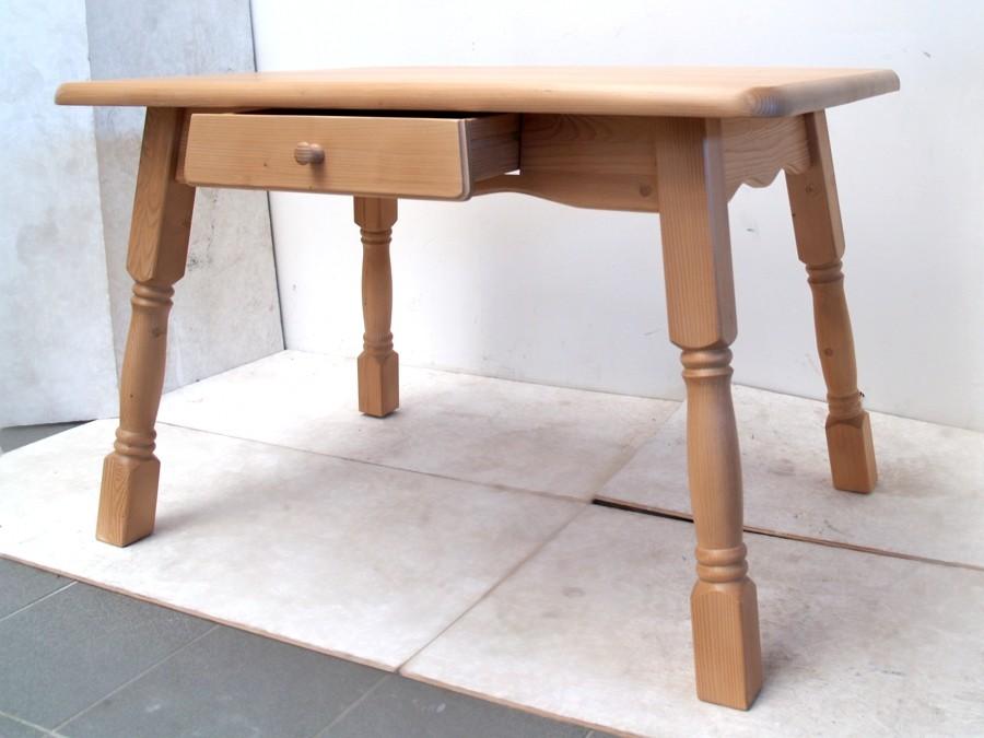 tisch bauerntisch weichholz landhausstil fichte massiv neuwertig lade esstisch. Black Bedroom Furniture Sets. Home Design Ideas