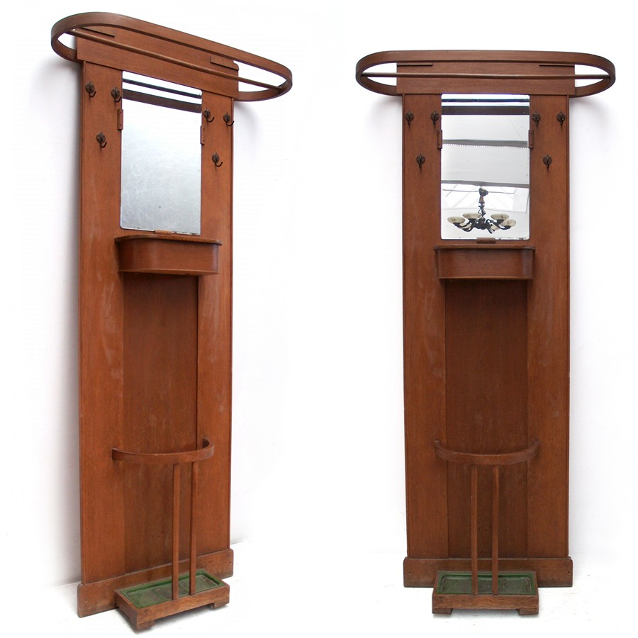 garderobe antiker kleiderst nder artdeco jugendstil. Black Bedroom Furniture Sets. Home Design Ideas