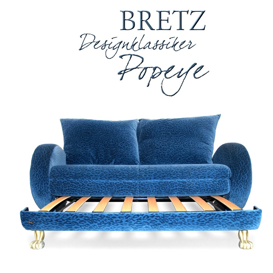 Bretz sofa designklassiker popeye ausziehbar zum for Schlafsofa designklassiker