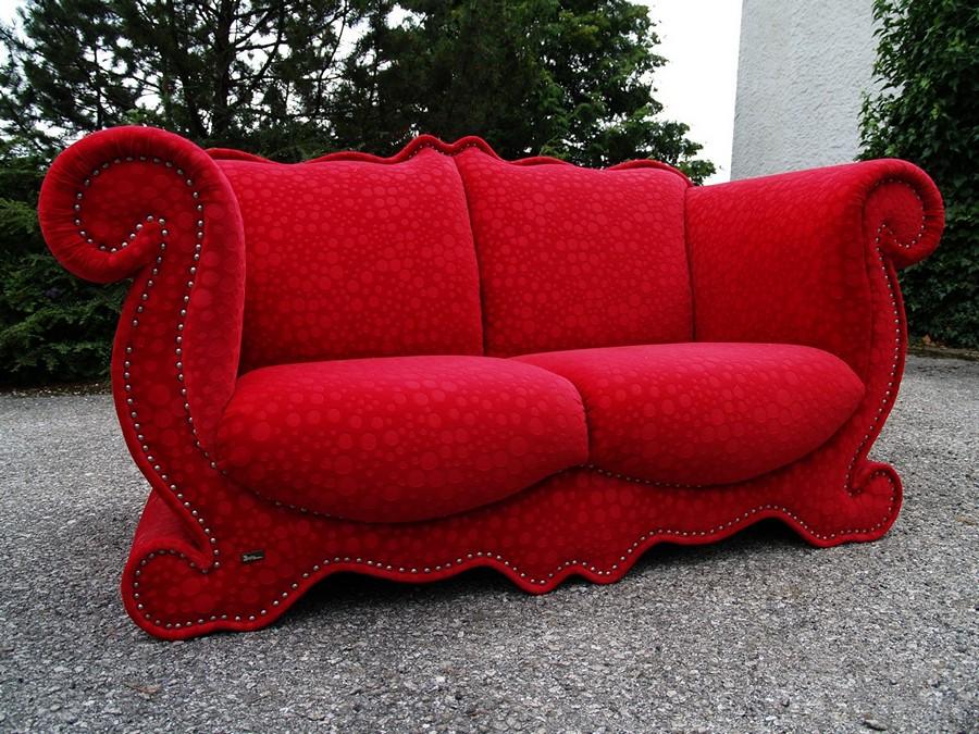 Bretz sofa designklassiker emily rot wundersch nes for Schlafsofa designklassiker